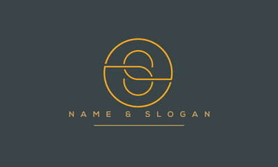 S ,SS Letter Logo Design with Creative Modern Trendy Typography