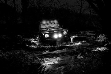 Land Rover Defender River Crossing Wall mural
