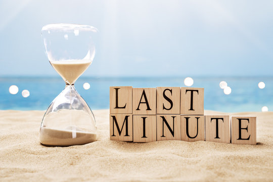 Last Minute Hourglass And On Beach