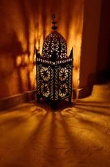 Papiers peints Maroc Traditional lantern at night inside Kasbah Ait Ben Moro at Skoura Morocco