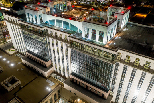 Night aerial photo West Palm Beach County Courthouse