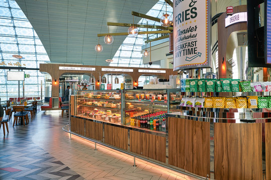 DUBAI, UAE - CIRCA JANUARY 2019: Tranzeet DXB in Dubai International Airport.