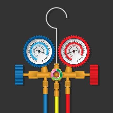 Manifold Gauge Repair Tool of Air Conditioner and  Refrigerator