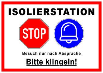 """/"""" auf A4 Schablone /"""" Bitte Klingeln .."""