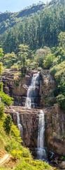 Fototapete - View at the Ramboda Falls (109 m) - Sri Lanka