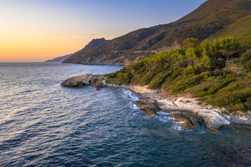 Wall Mural - Rocky coast of Corsican Cap Corse