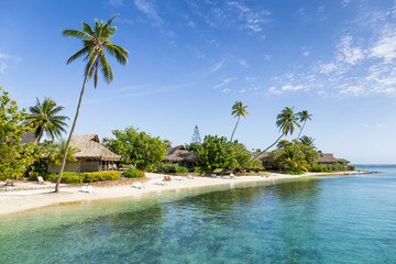 Wall Mural - Summer vacation on Moorea island in French Polynesia