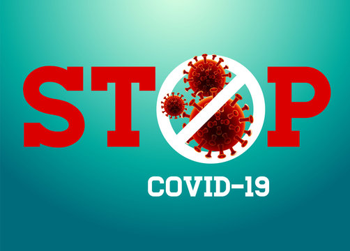 Stop Coronavirus, covid - 19 , China, Wuhan, Danger, vector Illustration.