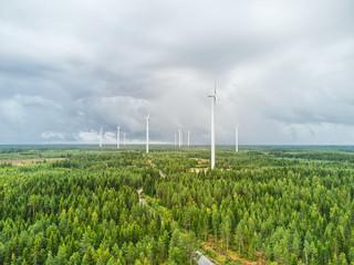 Spoed Fotobehang Noord Europa Wind farm in Kokkolantie ,Finland