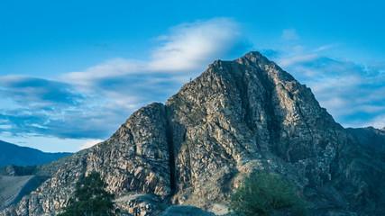 Aluminium Prints Blue Beautiful views and landscape of Altai nature.