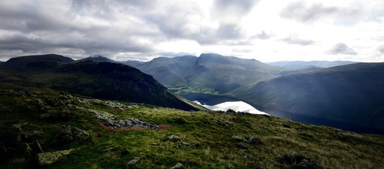 Scafell Pike from Middle Fell