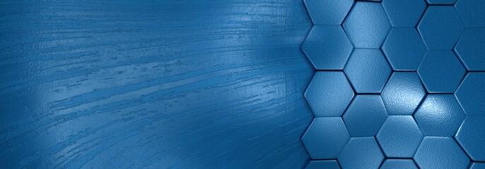 Obraz tło kolor niebieski geometryczne z refleksami światła. Rendering 3D - fototapety do salonu