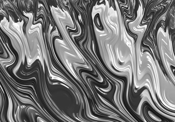 Poster Fractal waves Fractal Abstract Art Background Wallpaper