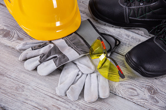 A protective helmet is necessary on any construction site.