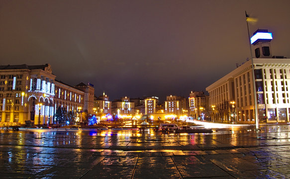 Maidan square in Kyiv, new year´s eve