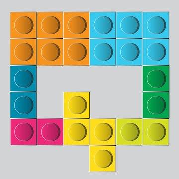 colorful brick construction lego letter Q