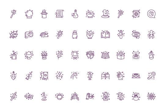 bundle of magic sorcery set icons