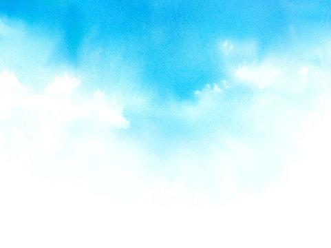 水彩で描く空