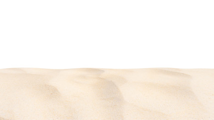 Wall Mural - Beach sand texture Di cut isolated on white background