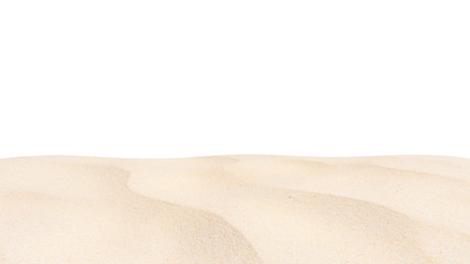 Fototapete - Beach sand texture Di cut isolated on white background