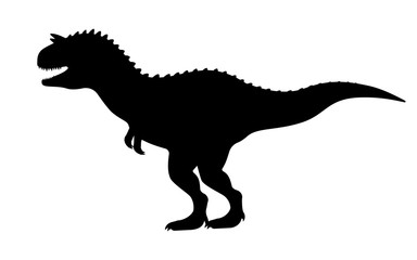 Vector carnotaurus silhouette
