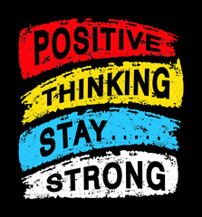 Wall Murals Positive Typography positive thinking stay strong typography for print t shirt