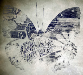Canvas Prints Butterflies in Grunge Grunge butterfly