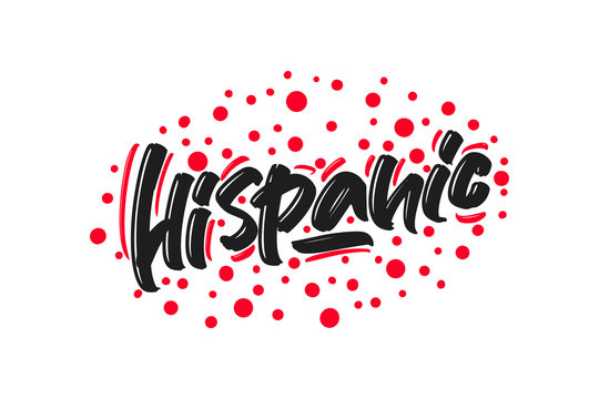 Hispanic hand drawn lettering text. Vector illustration.