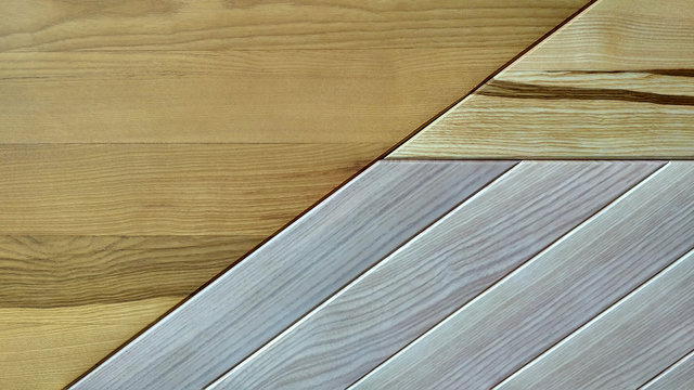 Three types of wooden boards background