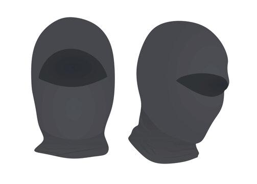 Grey ninja mask. vector illustration
