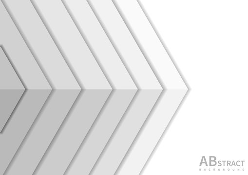 Abstract white overlap background with copy space for text.