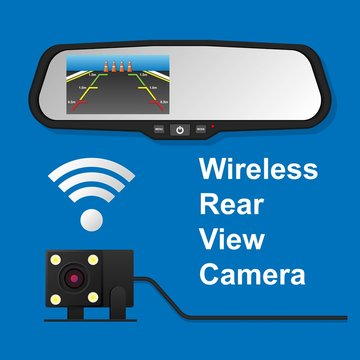 Rear View Camera Video Recorder Display Screen LCD Car Parking Assistance