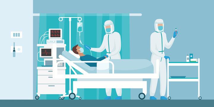 Brave doctors and nurses fighting coronavirus in the hospitals