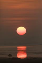 Sun Rise Over a Lake Near Chennai, Tamil Nadu, India