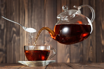 flying teapot pouring tea