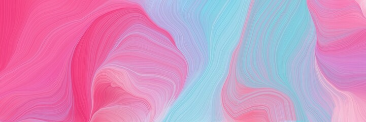 Foto auf Gartenposter Abstrakte Welle vibrant colored banner background with pastel violet, hot pink and sky blue color. abstract waves design