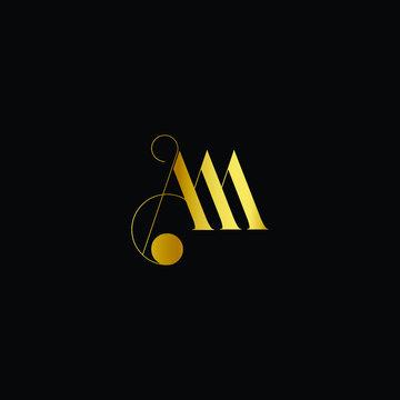 AM logo design template vector illustration