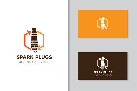illustration vector graphic of spark plug logo good for service car, motorcycle icon and speed icon