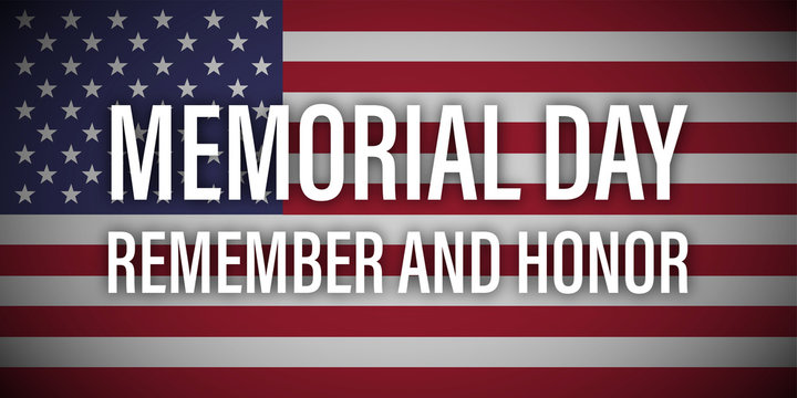 memorial day remember honor usa flag vector