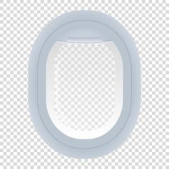 Mobileaircraft plane window isolated transparent background vector