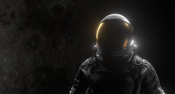 Astronaut Space Black Background