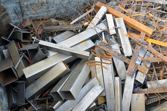Technological scrap, background, texture. Secondary material resources