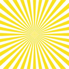 Abstract light yellow sun rays background, vector illustration