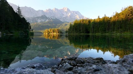 Wall Mural - Scenic surroundings near famous lake Eibsee.