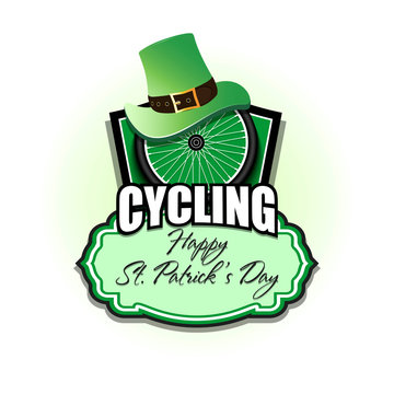 Happy St. Patrick day and bicycle wheel