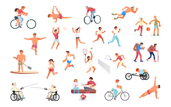 Big set of sport people