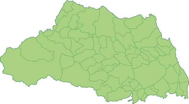 埼玉県の地図_市町村ごとに色を変えられます