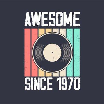 vintage 1970 vinyl music retro turntable