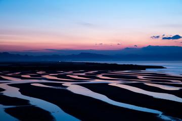 真玉海岸・干潟の薄暮