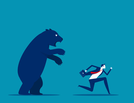 Bear market presents downtrend stock market